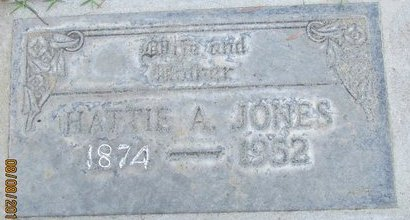 JONES, HARRIETT A. - Sutter County, California | HARRIETT A. JONES - California Gravestone Photos