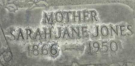 JONES, SARAH JANE - Sutter County, California | SARAH JANE JONES - California Gravestone Photos