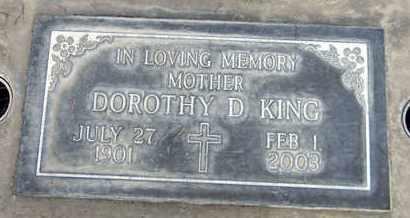 KING, DOROTHY D. - Sutter County, California   DOROTHY D. KING - California Gravestone Photos