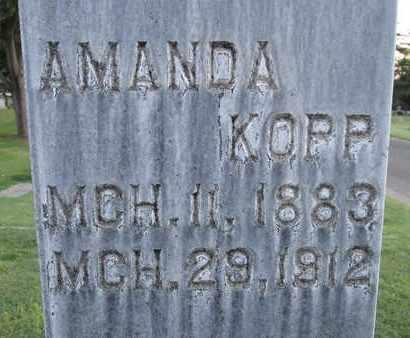 KOPP, AMANDA - Sutter County, California | AMANDA KOPP - California Gravestone Photos