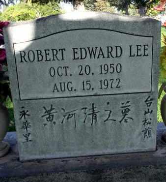 LEE, ROBERT EDWARD - Sutter County, California | ROBERT EDWARD LEE - California Gravestone Photos