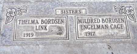 BORDSEN CAGE, MILDRED LILLIAN - Sutter County, California | MILDRED LILLIAN BORDSEN CAGE - California Gravestone Photos