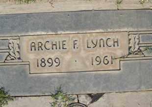 LYNCH, ARCHIE F. - Sutter County, California   ARCHIE F. LYNCH - California Gravestone Photos