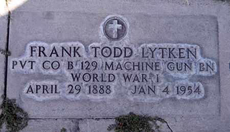 LYTKEN, FRANK TODD - Sutter County, California   FRANK TODD LYTKEN - California Gravestone Photos