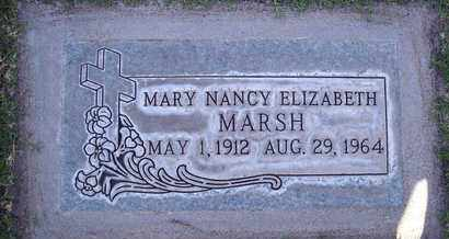 MARSH, MARY NANCY ELIZABETH - Sutter County, California | MARY NANCY ELIZABETH MARSH - California Gravestone Photos