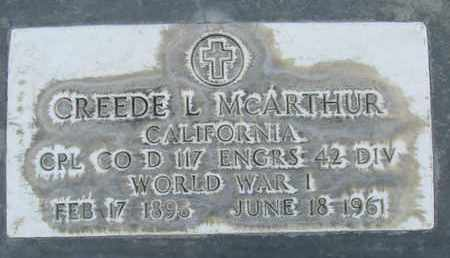 MCARTHUR, CREEDE L. - Sutter County, California | CREEDE L. MCARTHUR - California Gravestone Photos