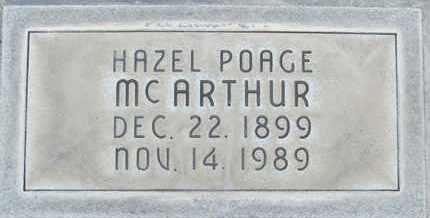 MCARTHUR, HAZEL POAGE - Sutter County, California | HAZEL POAGE MCARTHUR - California Gravestone Photos