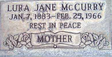 MCCURRY, LAURA JANE - Sutter County, California | LAURA JANE MCCURRY - California Gravestone Photos