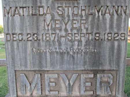 STOHLMANN MEYER, MATILDA - Sutter County, California | MATILDA STOHLMANN MEYER - California Gravestone Photos