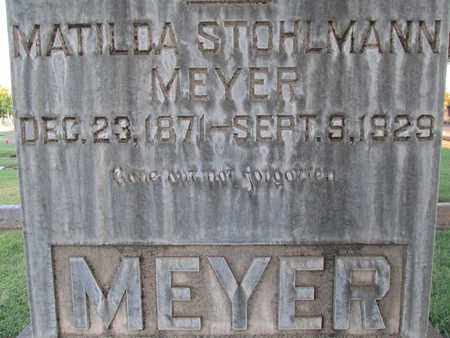 STOHLMANN MEYER, MATILDA - Sutter County, California | MATILDA STOHLMANN MEYER - California Gravestone Photos