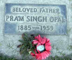 OPAL, PRAM SINGH - Sutter County, California   PRAM SINGH OPAL - California Gravestone Photos