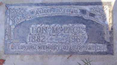 PACK, LON M. - Sutter County, California   LON M. PACK - California Gravestone Photos