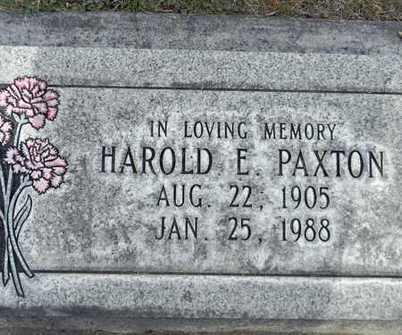 PAXTON, HAROLD E. - Sutter County, California   HAROLD E. PAXTON - California Gravestone Photos