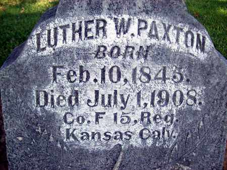 PAXTON, LUTHER W. - Sutter County, California   LUTHER W. PAXTON - California Gravestone Photos