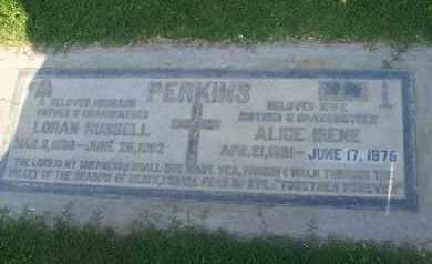 PERKINS, ALICE IRENE - Sutter County, California   ALICE IRENE PERKINS - California Gravestone Photos
