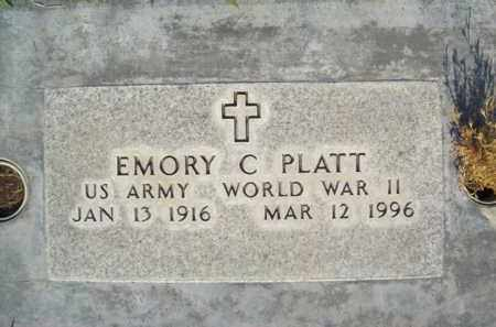 PLATT, EMORY CHRISTOPHER - Sutter County, California | EMORY CHRISTOPHER PLATT - California Gravestone Photos