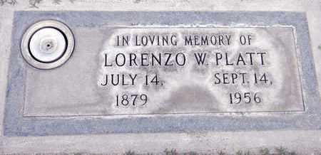 PLATT, LORENZO WOODSMAN - Sutter County, California | LORENZO WOODSMAN PLATT - California Gravestone Photos