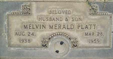 PLATT, MELVIN MERALD - Sutter County, California   MELVIN MERALD PLATT - California Gravestone Photos