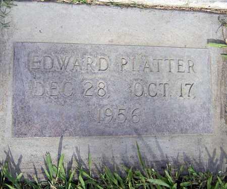 PLATTER, EDWARD - Sutter County, California | EDWARD PLATTER - California Gravestone Photos