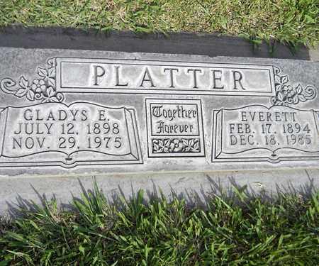 PLATTER, EVERETT - Sutter County, California | EVERETT PLATTER - California Gravestone Photos
