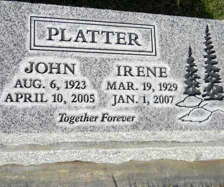 PLATTER, IRENE - Sutter County, California | IRENE PLATTER - California Gravestone Photos