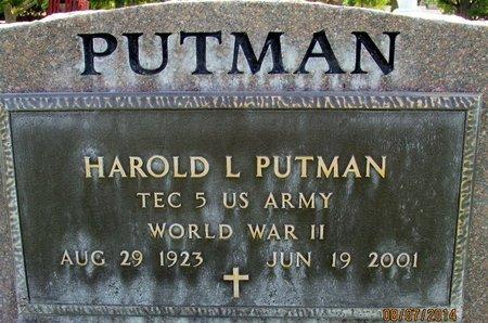 PUTMAN, HAROLD LEROY - Sutter County, California | HAROLD LEROY PUTMAN - California Gravestone Photos