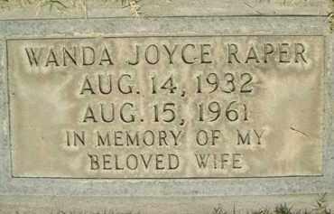 RAPER, WANDA JOYCE - Sutter County, California | WANDA JOYCE RAPER - California Gravestone Photos