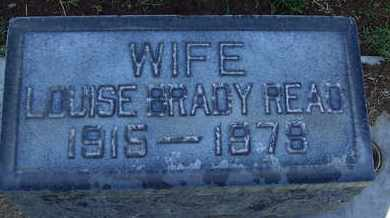 BRADY READ, LOUISE - Sutter County, California | LOUISE BRADY READ - California Gravestone Photos