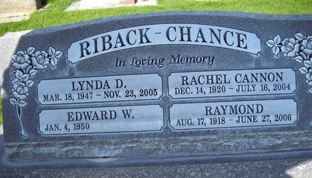 CHANCE, RACHEL CANNON - Sutter County, California | RACHEL CANNON CHANCE - California Gravestone Photos