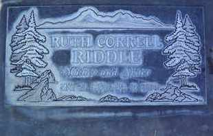 CORRELL RIDDLE, RUTH IRENE - Sutter County, California | RUTH IRENE CORRELL RIDDLE - California Gravestone Photos