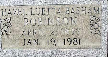 BASHAM ROBINSON, HAZEL LUETTA - Sutter County, California | HAZEL LUETTA BASHAM ROBINSON - California Gravestone Photos