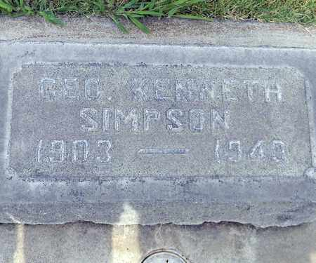 SIMPSON, GEORGE KENNETH - Sutter County, California | GEORGE KENNETH SIMPSON - California Gravestone Photos