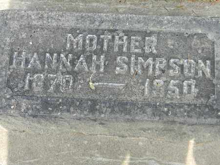 SIMPSON, HANNAH - Sutter County, California | HANNAH SIMPSON - California Gravestone Photos