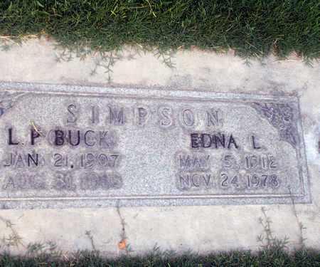 SIMPSON, EDNA L. - Sutter County, California | EDNA L. SIMPSON - California Gravestone Photos