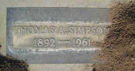 SIMPSON, THOMAS REED - Sutter County, California | THOMAS REED SIMPSON - California Gravestone Photos