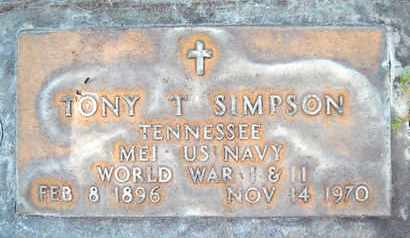 SIMPSON, TONY T. - Sutter County, California | TONY T. SIMPSON - California Gravestone Photos
