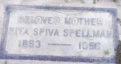 SPELLMAN, RITA SPIVA - Sutter County, California   RITA SPIVA SPELLMAN - California Gravestone Photos