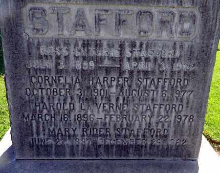 STAFFORD, HAROLD LA VERNE - Sutter County, California | HAROLD LA VERNE STAFFORD - California Gravestone Photos