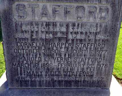 STAFFORD, CORNELIA HARPER - Sutter County, California | CORNELIA HARPER STAFFORD - California Gravestone Photos