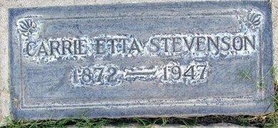 STEVENSON, CARRIE ETTA - Sutter County, California | CARRIE ETTA STEVENSON - California Gravestone Photos