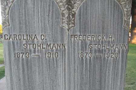 STOHLMANN, CAROLINA C. - Sutter County, California | CAROLINA C. STOHLMANN - California Gravestone Photos