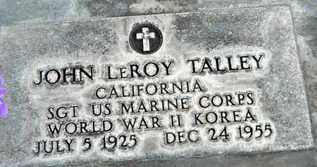 TALLEY, JOHN LEROY - Sutter County, California | JOHN LEROY TALLEY - California Gravestone Photos
