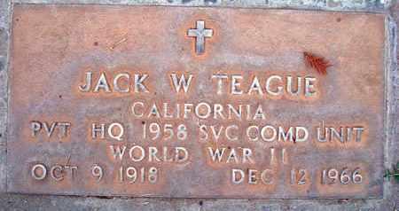 TEAGUE, JACK WILLIAM - Sutter County, California | JACK WILLIAM TEAGUE - California Gravestone Photos