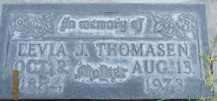 THOMASEN, LEVIA JOHANNA - Sutter County, California | LEVIA JOHANNA THOMASEN - California Gravestone Photos