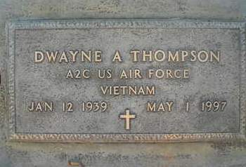 THOMPSON, DWAYNE ARLO - Sutter County, California | DWAYNE ARLO THOMPSON - California Gravestone Photos