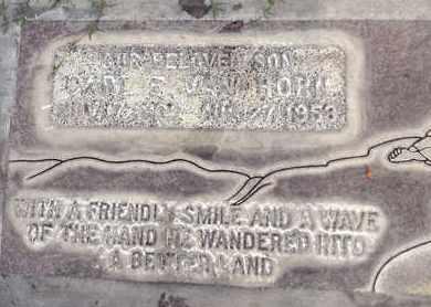 VAN HORN, CARL EDWIN - Sutter County, California | CARL EDWIN VAN HORN - California Gravestone Photos