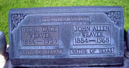 WEAVER, IRENE GAGE - Sutter County, California | IRENE GAGE WEAVER - California Gravestone Photos