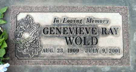 WOLD, GENEVIEVE RAY - Sutter County, California | GENEVIEVE RAY WOLD - California Gravestone Photos