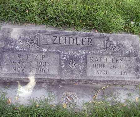 ZEIDLER, RINEHART T. - Sutter County, California | RINEHART T. ZEIDLER - California Gravestone Photos