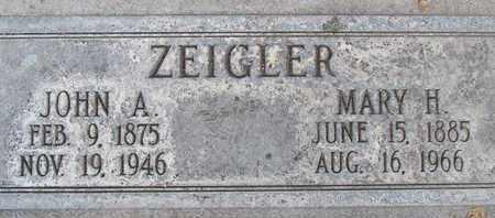 ZEIGLER, JOHN ADAM - Sutter County, California | JOHN ADAM ZEIGLER - California Gravestone Photos